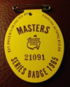 1965 Masters Golf Tournament Badge Jack Nicklaus