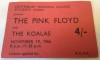 1966 Pink Floyd Canterbury Technical College ticket stub