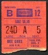 1976 Bee Gees Madison Square Garden ticket stub