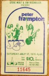 1979 Yes and Peter Frampton Anaheim ticket stub