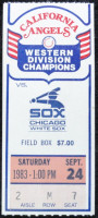 1983 White Sox at Angels ticket stub