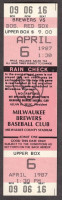 1987 Red Sox at Brewers ticket stub