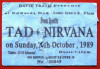 1989 Nirvana in Birmingham ticket stub