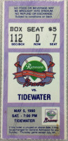 1990 MiLB Tidewater Tides at Richmond Braves ticket stub