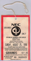 1996 NEC World Series of Golf Ticket Stub