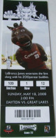 2008 Great Lakes Loons at Dayton Dragons ticket stub