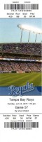 2011 Rays at Royals ticket stub
