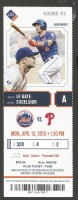 2015 MLB Phillies at Mets opening day ticket stub