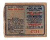 Ticket Stub from 1942 Senators at Yankees Military Benefit Game Babe Ruth Final HR