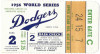 1956 World Series Game 2 ticket stub Yankees at Dodgers