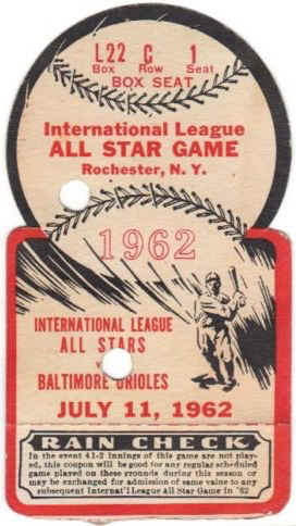 1962 Orioles vs Intl League All Stars Die Cut 20.00