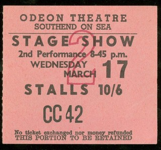 1965 Rolling Stones Ticket Stub Odeon Theatre Southend On Sea 50