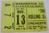 Rolling Stones ticket stub from Washington DC in 1965