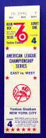 1976 ALCS Game 4 Royals at Yankees ticket stub