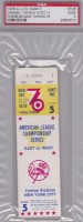1976 MLB ALCS Royals at Yankees ticket stub Chris Chambliss HR