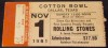 1981 Rolling Stones ticket stub Dallas