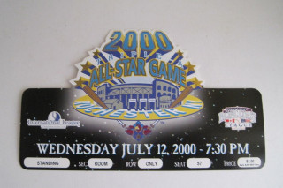 2000 MiLB AAA All Star Game Rochester ticket stub