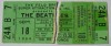 Beatles ticket stub price guide: Dallas Memorial Auditorium 1964