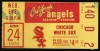 1970 MLB White Sox at Angels ticket stub