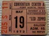 1973 Led Zeppelin Ft. Worth ticket stub
