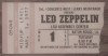 1977 Led Zeppelin Baton Rouge LSU ticket stub