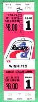 1978 WHA Jets at Racers ticket stub