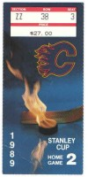 1989 NHL Playoffs Canadiens at Flames ticket stub