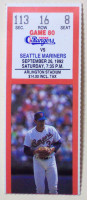 1992 Mariners at Rangers ticket stub