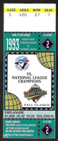 1993 World Series Game 2 ticket Phillies at Blue Jays