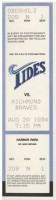 1994 MiLB Richmond Braves at Norfolk Tides ticket stub