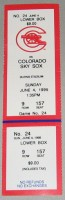 1995 PCL Sky Sox at Cannons ticket stub