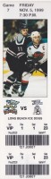 1999 IHL Long Beach Ice Dogs at Grand Rapids Griffins ticket stub