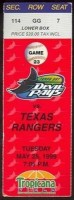 1999 Rangers at Devil Rays ticket stub