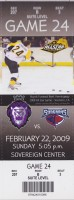2009 ECHL Reading Royals ticket stub vs South Carolina