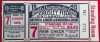 1940 World Series Game 7 Ticket Stub Tigers at Reds