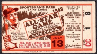 Top 10 MLB All Star Game Ticket Stubs