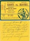 1959 Exhibition SF Giants at Portland Beavers