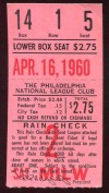 1960 MLB Braves at Phillies Hank Aaron HR