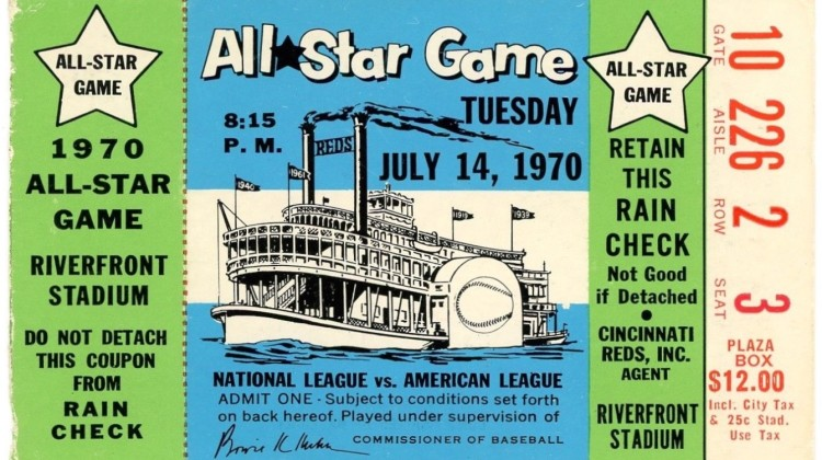1970 MLB All Star Game Ticket Stub 45