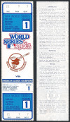 1984 World Series Game 1 ticket Tigers at Padres