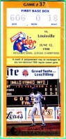 1988 MiLB Louisville Redbirds at Tidewater Tides ticket stub