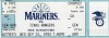 1993 MLB Rangers at Mariners ticket stub