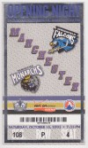 2005 Manchester Monarchs Opening Night ticket stub vs Springfield