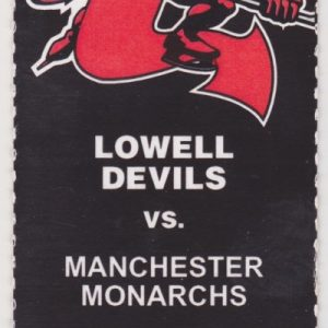 2006 AHL Lowell Devils ticket stub vs Manchester for sale