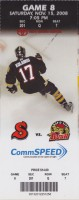 2008 CHL Rapid City Rush at Arizona Sundogs ticket stub