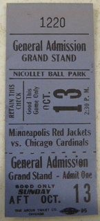 1929 Chicago Cardinals at Minneapolis Red Jackets