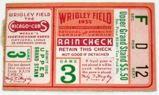 1935 World Series Game 3 Ticket Stub Tigers at Cubs