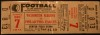 1941 NFL Eagles at Redskins Pearl Harbor Day Unused Ticket
