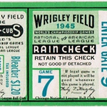 Chicago Cubs ticket stubs through the years