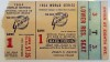 1954 World Series Game 1 ticket Indians at Giants